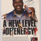 Shaq Bar Shaquille O'Neal 1996 Amway PRINT AD advertisement '90s