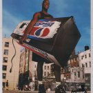 PEPSI Shaquille O'Neal PRINT AD Shaq basketball court advertisement '90s