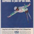 Kris Feddersen '90s PRINT AD Visa 1992 U.S. Olympic Ski Team advertisement