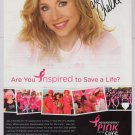 Sarah Chalke PRINT AD Passionately Pink Susan G. Komen advertisement 2009