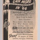Kerr Mason jars '40s PRINT AD canning vintage advertisement WWII 1944