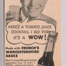 French's Worcestershire Sauce '40s PRINT AD actor Chester Morris vintage 1944