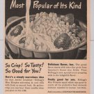 Kellogg's Rice Krispies cereal '40s PRINT AD vintage advertisement 1944