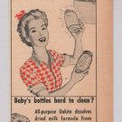 Oakite cleaner '40s PRINT AD vintage advertisement 1944