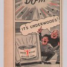 Underwood Deviled Ham '40s PRINT AD safe robbers cartoon style vintage advertisement 1944