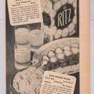 Ritz crackers &#39;40s PRINT AD Nabisco recipe vintage advertisement 1944
