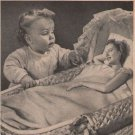 Johnson's Baby Oil '40s PRINT AD vintage advertisement GIANT BABY bassinet 1944