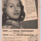 Arrid deodorant Jessica Dragonette '40s PRINT AD singer radio star vintage advertisement 1944