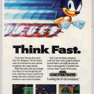 Sonic the Hedgehog '90s PRINT AD Sega Genesis video game advertisement 1991