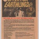 STAR WARS Fan Club '70s AD PAGE movie R2-D2 C-3PO Darth Vader vintage advertisement 1978