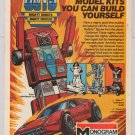 GoBots '80s PRINT AD motorized toy model kits MONOGRAM Go Bots vintage advertisement 1984