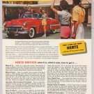 Hertz Rent-A-Car '50s PRINT AD Chevy convertible EL MIRADOR HOTEL Palm Springs vintage 1953