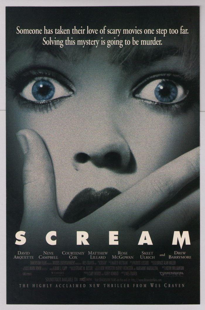 SCREAM horror movie PRINT AD Drew Barrymore '90s