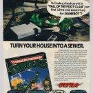 TMNT Fall of the Foot Clan '80s PRINT AD Teenage Mutant Ninja Turtles video Game Boy 1989
