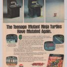 TMNT Arcade Game '90s PRINT AD Nintendo video game advertisement 1990