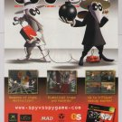 Spy vs Spy video game PRINT AD Mad magazine advertisement 2005