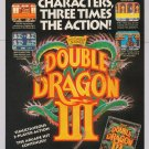 Double Dragon III video game '90s PRINT AD Nintendo advertisement 1991