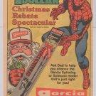 GARCIA spinning reel '80s PRINT AD Kingfisher Spider-Man vintage advertisement 1983