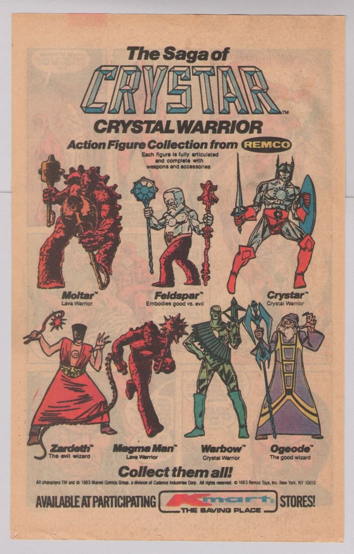 CRYSTAR action figures '80s PRINT AD Remco toys advertisement Kmart 1983