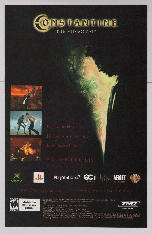 CONSTANTINE video game PRINT AD Keanu Reeves advertisement 2005