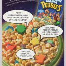 Marshmallow Mania Pebbles PRINT AD Post cereal Flintstones advertisement 2005