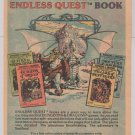 ENDLESS QUEST books '80s PRINT AD Rose Estes TSR advertisement Larry Elmore D&D 1982