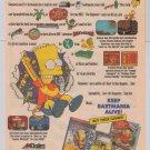 BARTMANIA Bart Simpson video games '90s PRINT AD Simpsons Acclaim Nintendo advertisement 1991