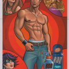 BOD Man body spray PRINT AD beefcake pin-up shirtless advertisement 2005