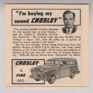 I'm buying my second CROSLEY car '40s vintage PRINT AD automobile advertisement 1949