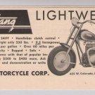 MUSTANG motorcycles '40s PRINT AD vintage advertisement 1949