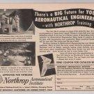 Northrop Aeronautical Institute '40s PRINT AD aviation vintage advertisement 1949