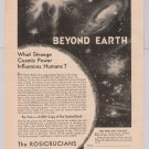 ROSICRUCIANS Beyond Earth '40s PRINT AD vintage advertisement AMORC 1949