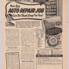 Motor's Auto Repair Manual '40s PRINT AD book offer vintage advertisement 1949