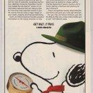 SNOOPY MetLife '90s PRINT AD Peanuts advertisement 1996