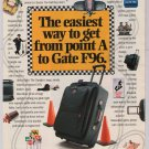 SAMSONITE luggage &#39;90s PRINT AD airport bag advertisement 1996