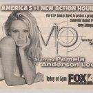 VIP Pamela Anderson '90s PRINT AD tv series advertisement 1998