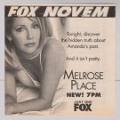 HEATHER LOCKLEAR Melrose Place '90s PRINT AD tv show advertisement 1998