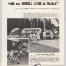 Mobile Home Manufacturers Association '50s PRINT AD trailer MHMA advertisement 1953