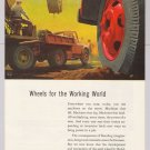 Budd Company '50s construction equipment transportation PRINT AD vintage advertisement 1953