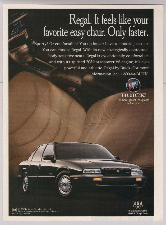 Buick Regal '90s PRINT AD automobile car advertisement 1995