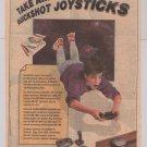 QUICKSHOT joystick '80s PRINT AD video game accessories vintage advertisement 1989