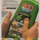 TMNT Konami hand held video game '80s PRINT AD Teenage Mutant Ninja Turtles advertisement 1989