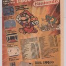 NINTENDO Sears '80s PRINT AD video games vintage advertisement Mario 1989