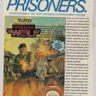 Operation Wolf '80s PRINT AD vintage video game advertisement Taito 1989