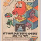 Q-BERT video game '80s PRINT AD Parker Brothers vintage advertisement Qbert 1983