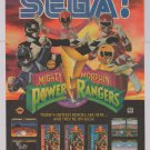 POWER RANGERS Sega '90s PRINT AD video game advertisement 1994