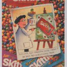 SKITTLES candy '90s PRINT AD Van Gogh advertisement 1994