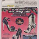 DALLAS COWBOYS Stiletto ornaments PRINT AD Christmas shoe advertisement 2011