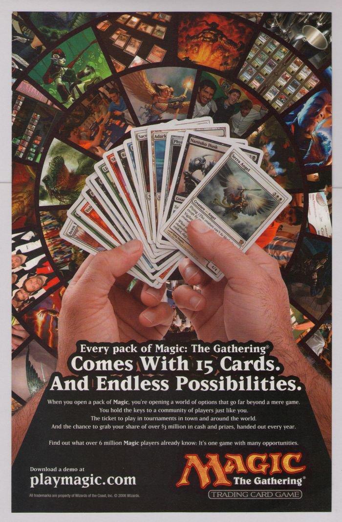 Magic: The Gathering PRINT AD fantasy card game advertisement 2006