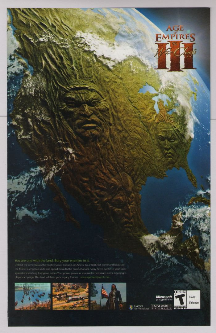 AGE OF EMPIRES III 3 video game PRINT AD War Chiefs advertisement 2007